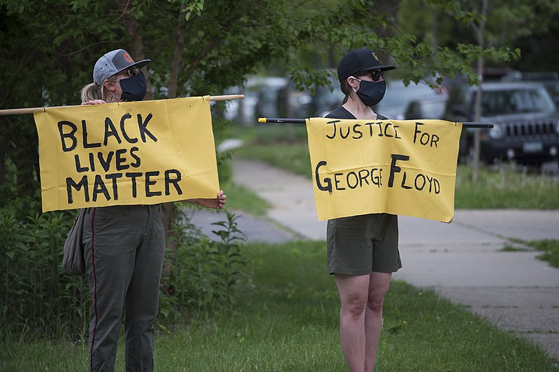 File:Protest against police violence - Justice for George Floyd, May 26, 2020 02.jpg