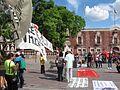 Protesta en favor de los profesores de Oaxaca, en la plaza principal de Aguascalientes (junio, 2016) 27.jpg