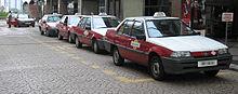 Proton Iswara taxis, Kuala Lumpur.jpg