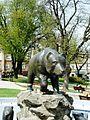 Przemyśl, plac Rynkowy z placem Dominikańskim, XVI, XVIII, XIX - rzeźba Niedźwiedzia na rynku A.JPG