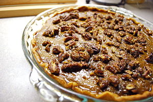 Pumpkin pecan pie.