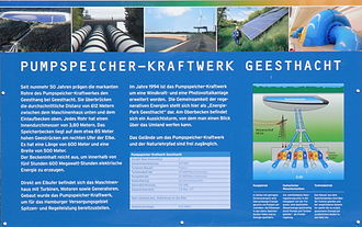 Geesthacht - Information table about the pumped storage