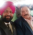 Punjabi Writer Harvinder Bilaspur with Arjun Awardee Rustm-e-Hind Wrestler Kartar Singh.jpg