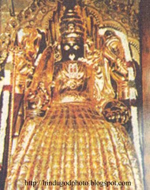 Moolavar - The Punnainallur Mariamman temple Moolavar, the main deity, Mariamman
