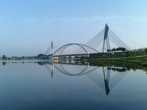 Seri Saujana Bridge - Image: Putrajaya Bridge 073