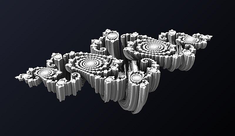Trojrozmerný prierez tzv. Júliovej množiny v kvaterniónoch.