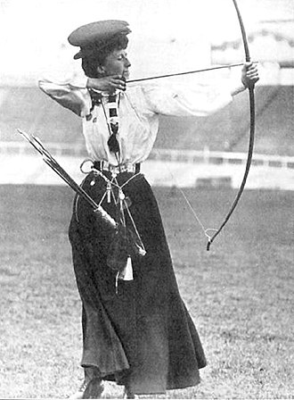 Archery at the 1908 Summer Olympics - Queenie Newall
