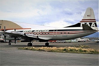 Reeve Aleutian Airways - Reeve Aleutian Airways Lockheed L-188 Electra entered in service on 17 February 1968.