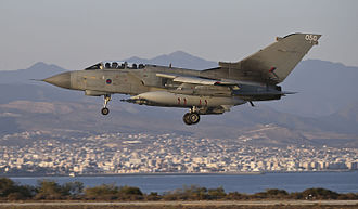 Operation Shader - A Tornado GR4 returns to RAF Akrotiri after the first airstrikes on 30 September 2014.