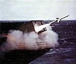 RIM-7 is launched from USS Nimitz (CVN-68), circa in 1983.jpg