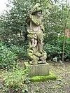 foto van Landgoed Dordwijk: hardstenen tuinbeeld 'Hercules'