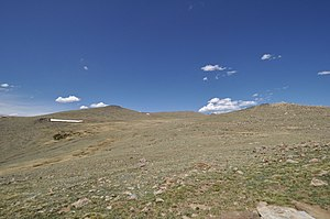 Beatrice Willard Alpine Tundra Research Plots - View of the tundra near the Forest Canyon Overlook on the Trail Ridge Road