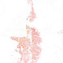 Map Of Racial Distribution In Salt Lake City 2010 U S Census Each Dot Is 25 People White Black Asian Hispanic Or Other Yellow