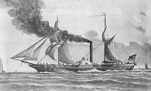 Battle of Heligoland (1849) - The German Corvette SMS Lübeck