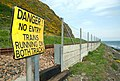 Railway sign near Whitehead (1) - geograph.org.uk - 786665.jpg