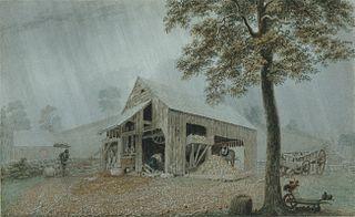Rainstorm—Cider Mill at Redding, Connecticut