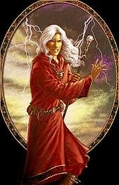 Il mago Raistlin Majere, uno dei protagonisti della saga di Dragonlance
