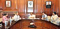 Rajnath Singh chairing a meeting to discuss amendments to the Pesticides Management Bill, 2008, in New Delhi. The Union Minister for Finance, Corporate Affairs and Information & Broadcasting, Shri Arun Jaitley.jpg