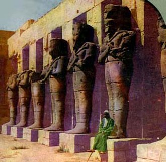 Ramesses III - Osirid statues of Ramses III at his temple in Karnak (in the first courtyard of the Great Temple of Amun).