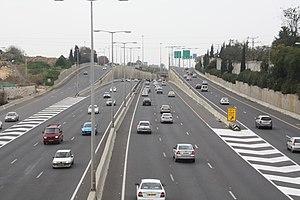 Highway 5 (Israel) - Highway 5 near Ramat HaSharon.