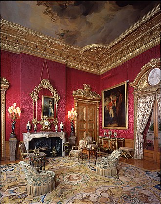 Waddesdon Manor - The Red Drawing Room