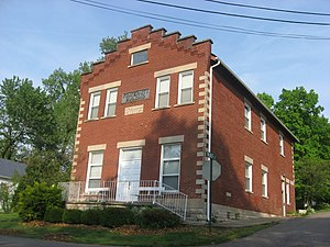 Smithville, Monroe County, Indiana - Smithville's Red Men fraternal lodge building