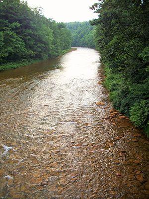 Moshannon Creek - Moshannon Creek is known as the Red Moshannon for its red coloring.
