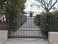 Reformed church, wrought iron sliding gate, 2019 Isaszeg.jpg