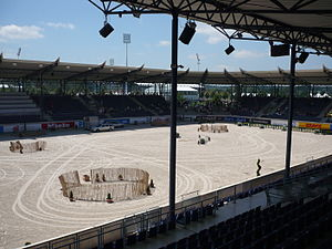 "CHIO Aachen - The ""Deutsche Bank Stadion"" during the 2004 CHIO Aachen"