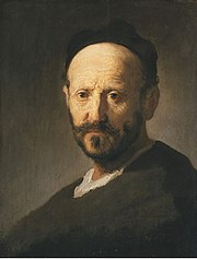 Bust of a man with a cap