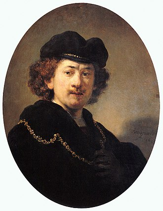 Portrait of a Young Man with a Golden Chain - Rembrandt. Self-Portrait of a Young Man with a Golden, 1633. Louvre Museum, Paris.