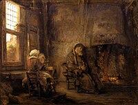 Rembrandt van Rijn - Tobit en zijn vrouw (1659).jpg