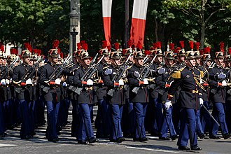 Full dress uniform - French Republican Guard infantry in full dress uniform.
