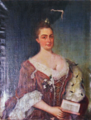 Retrato de D. Isabel Breyner e Meneses (séc. XVIII), Palácio dos Condes de Ficalho.png