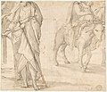 Return of the Holy Family from Egypt (recto); Studies for the Return from Egypt (verso) MET DP807806.jpg