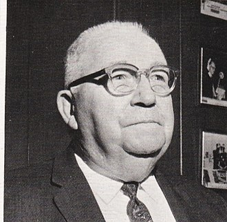 """Robert Houston Curry - Though no photo is available of Robert Houston Curry, his son, Robert H. """"Bob"""" Curry (born c. 1892 - date of death missing) is shown here in the 1970 yearbook The Lagniappe of Louisiana Tech University through Curry's role as a member and former president of the Louisiana State Board of Education for the 4th congressional district."""