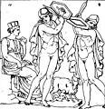 Rhéa, Amalthée allaitant et la danse des Curètes dessin d'un bas-relief d'autel romain.jpg