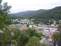 Skyline of Richwood, West Virginia