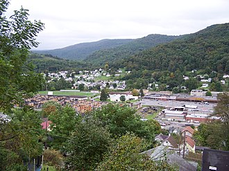 Richwood, West Virginia - Image: Richwood WV skyline