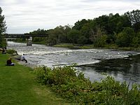 Rideau River as seen from Carleton University