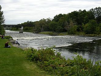 Rideau River - The Rideau River in Ottawa flowing between Carleton University and Vincent Massey Park