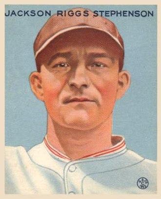 Riggs Stephenson - Goudey baseball card, 1933