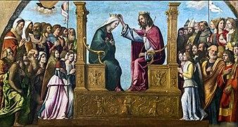 Right transept of Santi Giovanni e Paolo (Venice) - Cima da conegliano, incoronazione della vergine.jpg