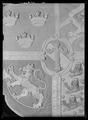 Riksvapen,Vasa-ättens vapen, broderat till kröningen 1561 på beställning av Erik XIV - Livrustkammaren - 19066.tif