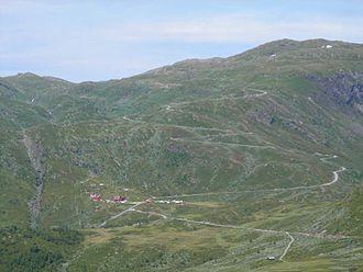 Norwegian County Road 55 - Image: Riksvei 55 ved Turtagrø