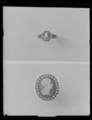 Ring med miniatyrporträtt av konung Gustav II Adolf av Sverige ca 1630, skuret i agat - Livrustkammaren - 36555.tif