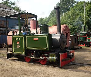 Ernest E. Baguley - Baguley Cars Locomotive ''Rishra'' now resident at the Leighton Buzzard Light Railway.