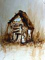 Ritók Lajos parasztház diópác akvarell akvarell 01.jpg
