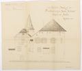 Ritning på Schloss Hallwyl, 1912. Södra fasaden - Hallwylska museet - 102194.tif