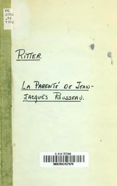 File:Ritter - La Parenté de Jean-Jacques Rousseau, 1902.djvu
